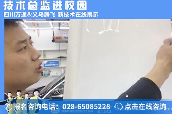 吴总正在为大家讲解隐形车衣新技术要点